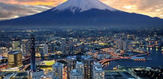 Evening view of Mount Fuji