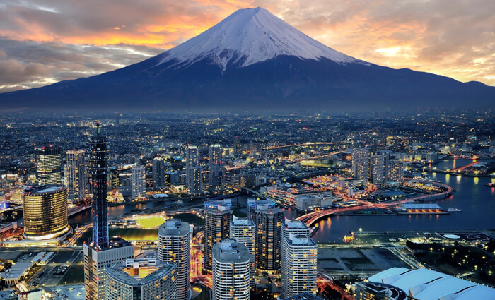 Evening view of Mount Fuji